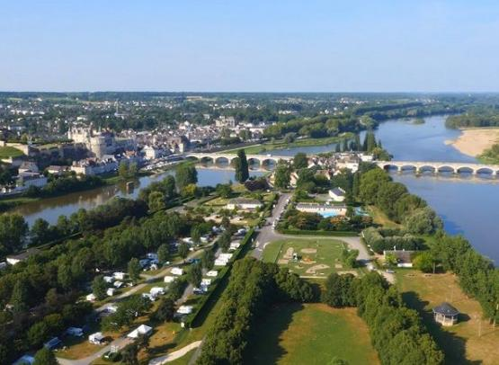 Campsite of l'Ile d'Or - Amboise, Loire Valley.