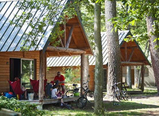 Huttopia Rillé campsite - Loire Valley, France.