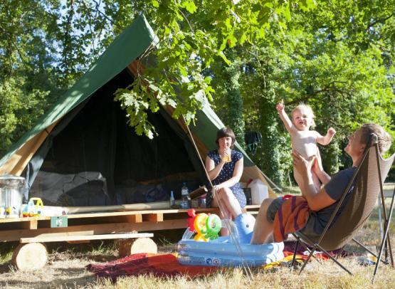 Huttopia Rillé campsite - Bonaventure tent
