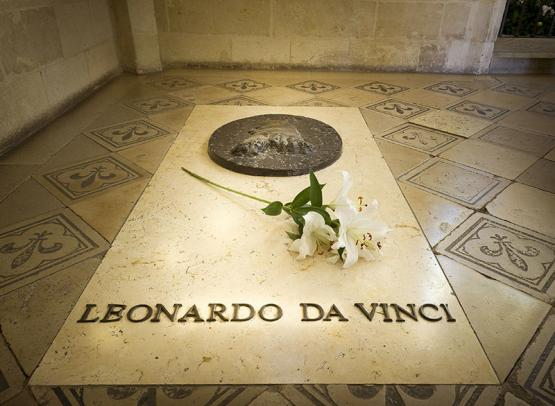 The tomb of Leonardo da Vinci, in the royal chateau of Amboise