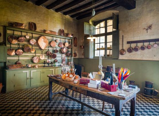 Chateau of Gizeux - The kitchen
