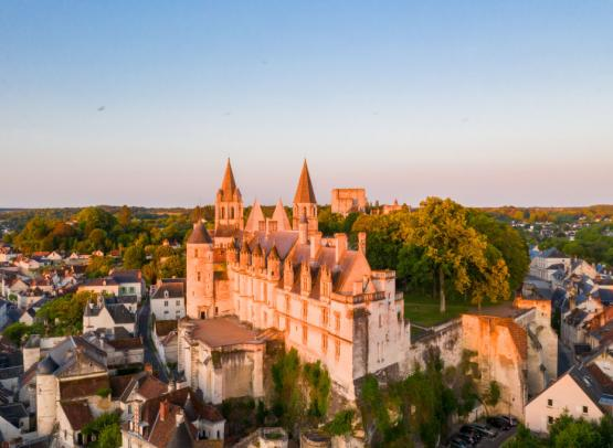 The Royal City of Loches - Loire Valley, France.