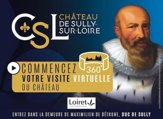 VISITE VIRTUELLE DU CHATEAU DE SULLY-SUR-LOIRE