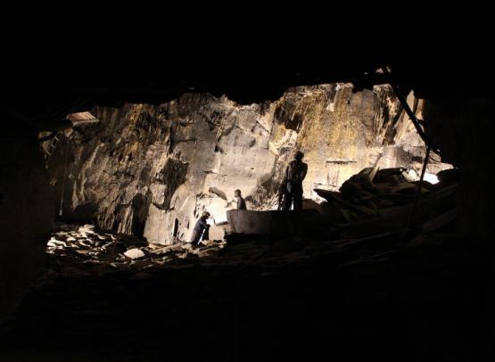 La Mine bleue - Chambre d'extraction de schiste ardoisier