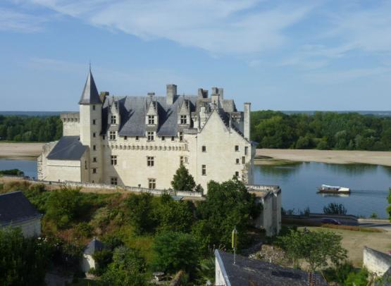 Château de Montsoreau et bateau © Sophie Lecerf-SPL SVLT