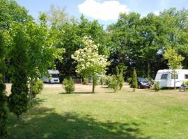 Les Acacias campsite - La Ville-aux-Dames, Loire Valley, France.