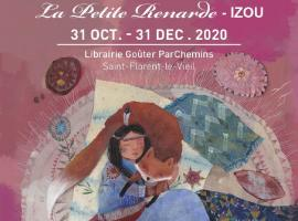 exposition-la-petite-renarde-izou-librairie-parchemins-saint-florent-le-vieil